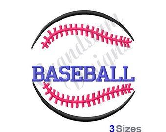 Baseball Name Drop - Machine Embroidery Design