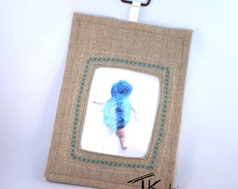 customize your fabric frame ! order original fabric frame (linen) for your best memories