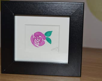 Watercolour Floral Rose Flower Framed Pretty Home Decor