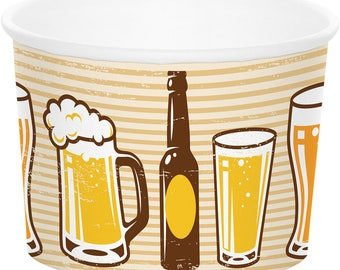 Cheers and Beers Party Treat Cups/ Beer Party Treat Cups/ Beer Party Theme Favor Cups/ Beer Party Supplies