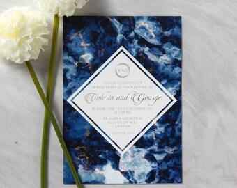 Mesmerizing Night Sky Wedding Invitation, Beautiful Foil Finish - IWF16110-TR-GS
