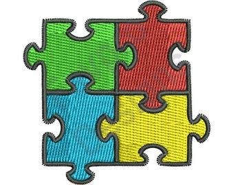 Autism Puzzle - Machine Embroidery Design