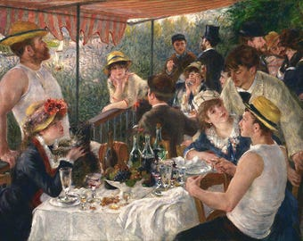 Luncheon of the Boating Party-Oil Painting Museum Quality Reproduction