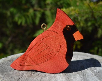 Indoor Outdoor Handmade Wooden Northern Cardinal
