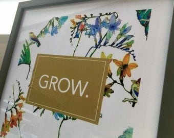 Print / grow - picture frame / wall decoration