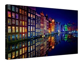 Amsterdam Canal - Gallery Grade Canvas Wall Art