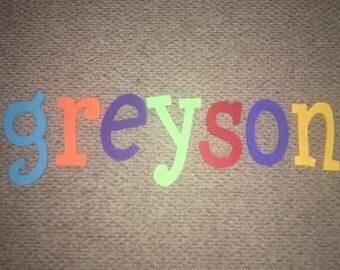 Plain Colored Nursery Letters