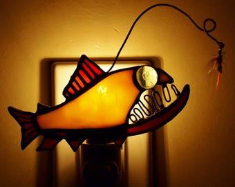 Bull Trout Angler Fish Night Light