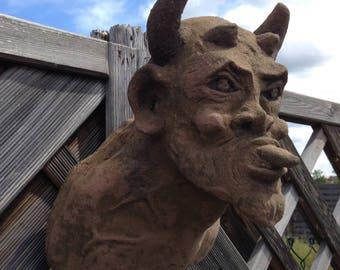 H 65 art antique sandstone look Devil Lucifer Satan
