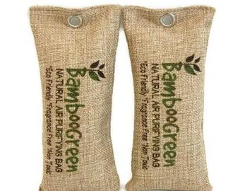 100% All Natural Bamboo Charcoal,  Air Purifier, Air Freshener,Natural Air Cleaner, Car Air Freshener & Air Purifier