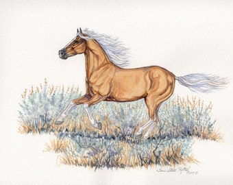 Galloping Gold (This is a One of a Kind Original Watercolor)