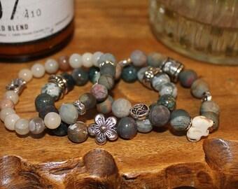 Forever Bloom - Handmade Beaded Bracelet