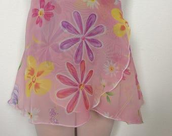Girls Printed Ballet Wrap Skirt