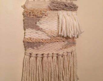 Woven wall hanging/ weaving/ modern tapestry/Scandi weave-medium