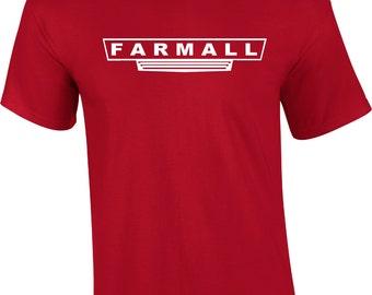 Vintage FARMALL Tractor logo tee  FREE SHIPPING