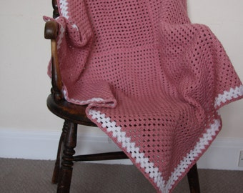 Hand Crocheted square blanket