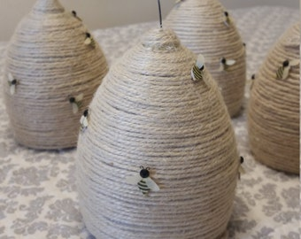 Bee Hive centerpieces,  Baby Shower / Birthday party  set of 4