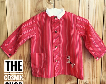 School vintage nylon blouse