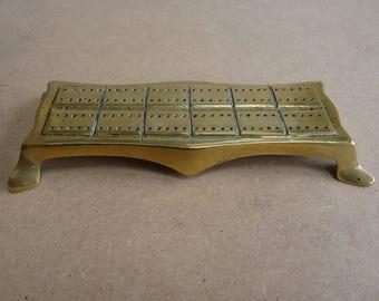 Brass cribbage scorer