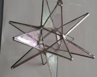 Clear iridescent moravian star