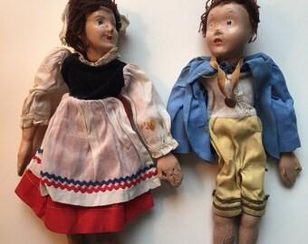 Vintage Marionette Couple