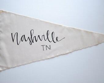 Nashville TN - Wall Pennant