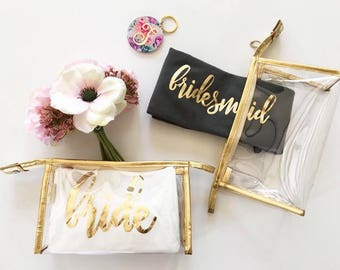Make Up Bag   Personalized Bag   Bridesmaid Gifts
