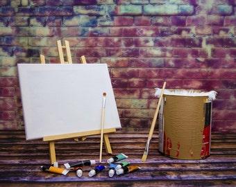 New Born Painting Digital Backdrop