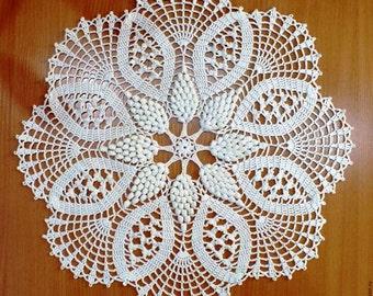 "Doily crochet ""White wine"". 100% cotton"