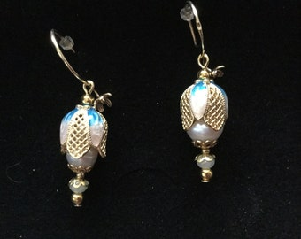 Elegant earrings with real pearls 05