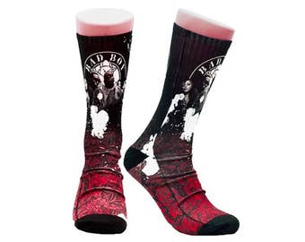 Handmade Sublimated Socks style Bad boy