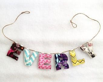Custom Name Bunting - Fabric Banner