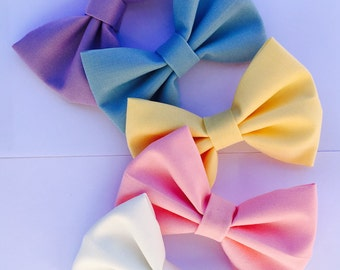 Solid Color Bow | Hair Clip