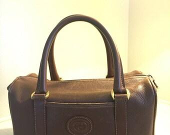 Gucci Vintage Speedy Brown Leather Bag.