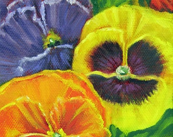 Mixed Pansy Seed Packet Series