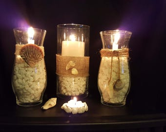 Beach candle set-FREE SHIPPING!