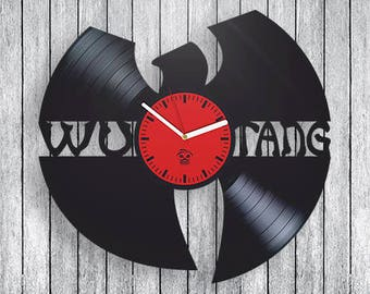 Wu Tang Clan Vinyl Clock Wall Decor  Music Rap unique design Fan Club Gift ideas for boys and girls Handmade Modern Art decoration
