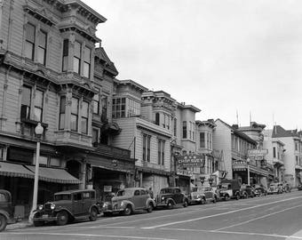 "1942 Post Street, San Francisco, California Vintage Photograph 8.5"" x 11"""