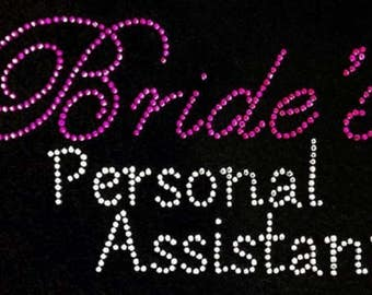Rhinestone Bride's Personal Assistant  Lightweight T-Shirt or DIY Iron On Transfer                                   IJOL