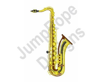 Saxophone - Machine Embroidery Design