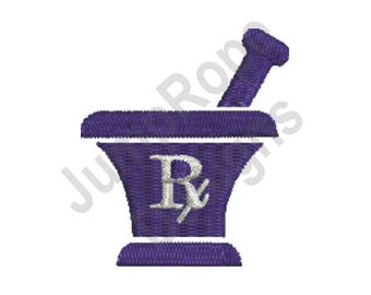 Mortar & Pestle - Machine Embroidery Design