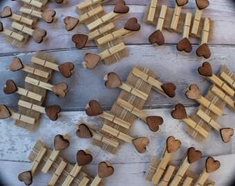 Wooden Pegs - wedding pegs - boho - craft pegs - nautral wooden pegs - pegs - vintage wooden pegs