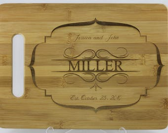 Personalized Cutting Board, wedding present, anniversary, housewarming gift.