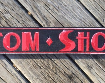 custom shop hand painted sign