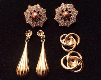 Vintage KJL Interchangeable Earring Set