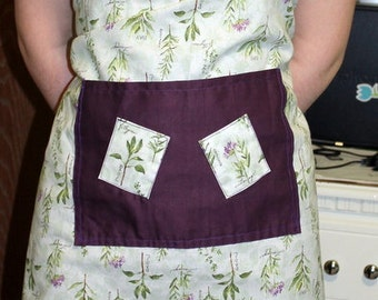 Straight Floral Apron