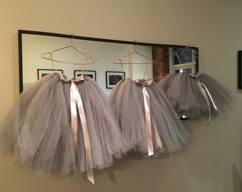 Flower Girl Tulle Skirt, Bridesmaid Tulle Skirt, Wedding Tulle Tutu, Girls Tulle Tutu, Tutu Skirt, Ballet Tutu