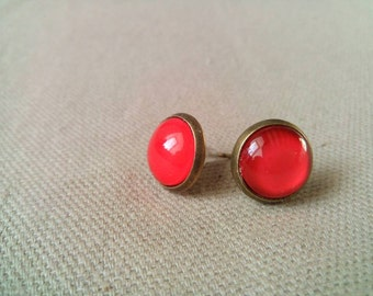 Earrings chips red #P 2
