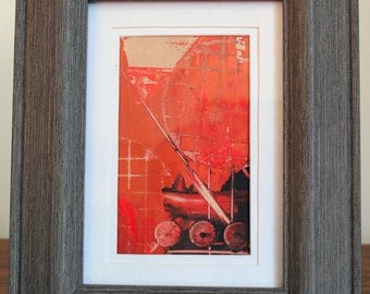 Simply Red II Framed Abstract Painting