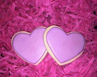 Purple Heart Cookies w/ Sprinkles